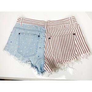 Reverse American Flag Shorts 4th of July Sz 10